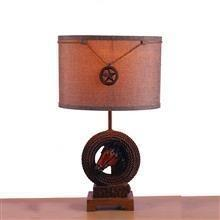 China TRF110003 11 inch Rope hose base modern fabric table lamp cloth lighting on sale
