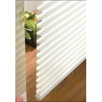 Manual 100% polyester Shangri-la roller blinds for windows with aluminum headrail,toprail