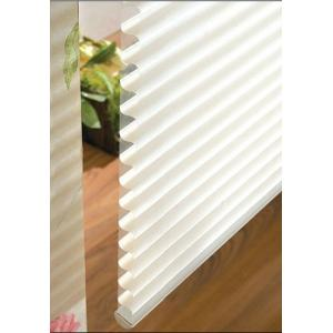 China Manual 100% polyester Shangri-la roller blinds for windows with aluminum headrail,toprail on sale