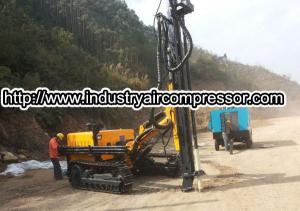 China Hydraulic  power crawler rotary drilling rig machine  80 -105mm  25m deepth on sale
