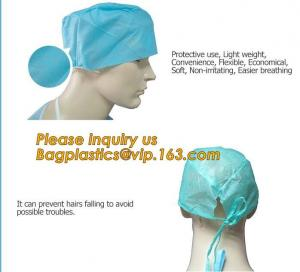 China Consumable Products Medical Disposable Cap with low price,Medical Disposable non-woven hospital bouffant cap BAGEASE on sale