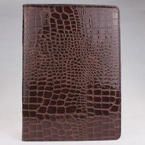 China fashion crocodile skin desgin protective case for ipad air -black and brown on sale