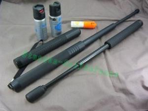 Quality bastón extensible de la policía del carbono del adaptador 16INCH for sale