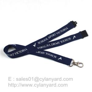 China Blue Breakaway Clip Lanyards, Printed Polyester Lanyard with Breakaway Buckle on sale