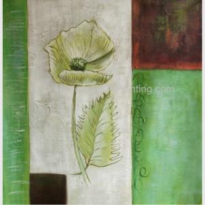China Modern Abstract Flower Oil Painting On Canvas , Stretched Canvas Painting For Wall DéCor on sale