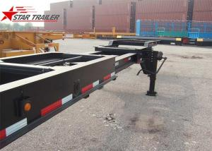 China 8 Tires Black Color 20 Ft Skeletal Trailers Goosneck Container Semi Trailer on sale