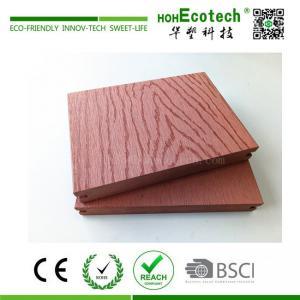China Embossed wood grain wpc composite deck flooring on sale