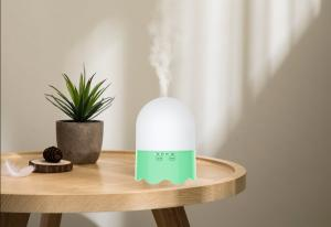 China USB Ultrasonic Aroma Diffuser Humidifier 300ml With LED Seven Colorful Lights on sale