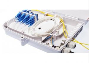 China ABS Waterproof Fiber Optic Termination Box 16 Port For FTTX Network Building on sale