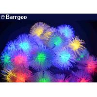 China 20 LED Furry Ball Solar LED Christmas Lights Colorful IP65 Xmas Decoration on sale