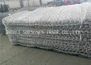 China 2.0 - 4.0mm Hexagonal Wire Netting Gabion Mesh Wire 2 x 1 x 1 For Protection on sale