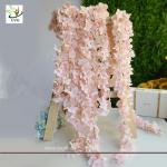 China UVG 2m long romantic classic silk flowers artificial wisteria garland for wedding decor wholesale