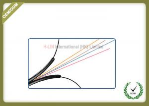 China Indoor 4 Core FTTH Fiber Optic Cable Black LSZH Jacket CE/ISO/ROHS Certificated on sale