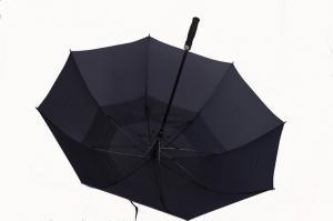 China Parapluie protégeant du vent de golf de promotion noire/directement parapluie, écran en soie on sale