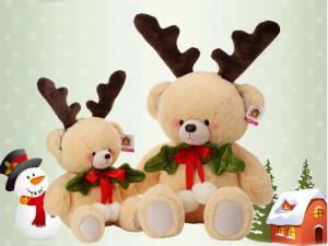 China sitting scarf polar bear plush toys Christmas polar bear on sale