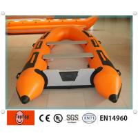 PVC Inflatable Fishing Boat , Inflatable Boat With Aluminum Floor For Rafting Or Fishing