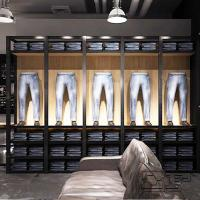 China Jean garment display rack/garment shop counter on sale