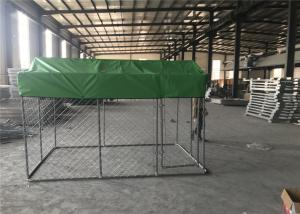 China Chain Link Dog Fence /Dog Kennel DIY powder coated hot dipped galvanized mesh 50mmx50mm x 2.70mm on sale