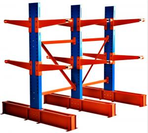 China Long Pipes Adjustable Cantilever Racking System For Industrial Warehouse on sale