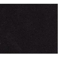 Pure Black Quartz Stone Countertops , Artifical bathroom quartz vanity tops