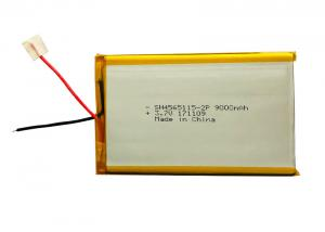 China Cell Phone Case Rechargeable Polymer Battery With Wires 4565115-2P 3.7V 9000mAh on sale