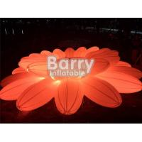 Pretty Lighting Decoration Inflatable Advertising Products / Inflatable LED Flower Chain For Wedding Party