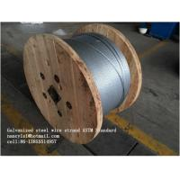 China Zinc Coating Steel Wire Cable 7/3.05mm 7/3.45mm With Scratch And Corrosion Resistant Coating on sale