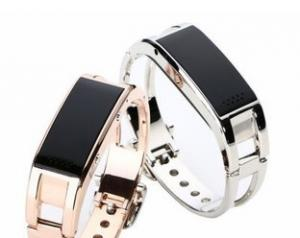 China MTK6260, stainless steel bluetooth bracelets with OLED caller ID for Ladies and Men on sale