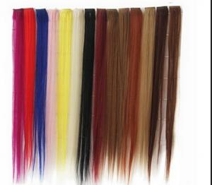 China Synthetic Fibre Hair Extensions Straight Double Drawn Human Hair Wefts on sale