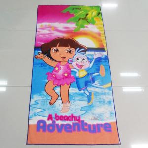 China Multi Purpose Microfiber Beach Towels Dora Adventures Pattern For Car Cleaning on sale