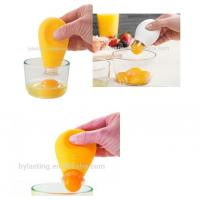 ECO Friendly Small Kitchen Tools Egg Yolk White Separator With Silicone Handle