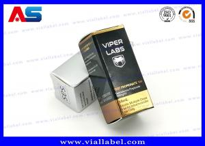 China Recyclable Foldable Paper Box For 10ml Glass Vials Bottles With Hologram Labels on sale
