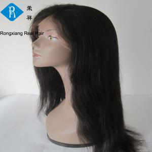 China wholesale factory natural human hair straight black full lace wig on sale