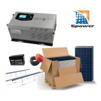 China Crystalline Panel 1000W Off Grid Solar System with 250Ah battery on sale