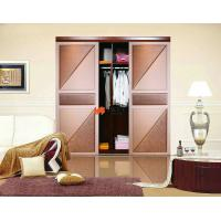 China Interior Slat Leather Sliding Door on sale