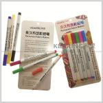 Kearing DIY T shirt Marker Fabric Paint Pens for marking on fabric 6 Assorted Color Markers#fm206