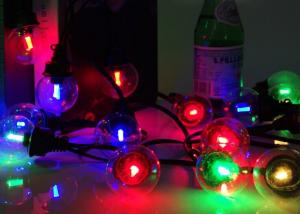 China Low Voltage RGB LED String Lights Warm White 30cm Bulb Spacing For Home Garden on sale