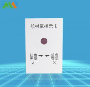 China Air Material Oxygen Indicator Card on sale