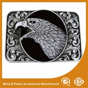China Metal / Brass Black  Western Eagle Belt Buckles For Men 35mm on sale