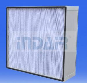 China Extruded Aluminum Frame HEPA Air Filter High Performance Super Fine Glass Fiber on sale