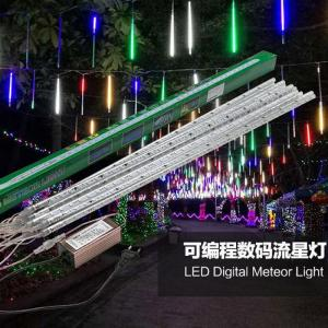 China 10 tubes programmable LED meteor shower lights cascading led landscape lighting christmas string lights on sale