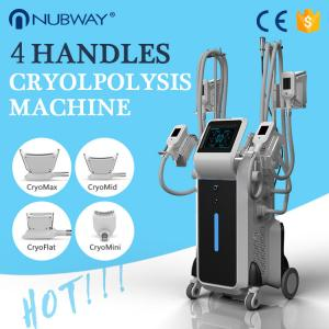 China Reduce Cellulite Fat Freeze Cryolipolysis Slimming Machine With Touch Screen RF Cavitation on sale