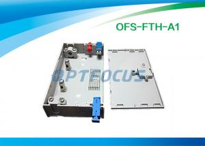 China FTTH Mini Fiber Optic Terminal Box 3 SC / FC / ST Adapor 6 LC Pigtails on sale