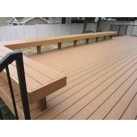 China Weather Resistance Composite Wood Park Bench With Wood Plastic Composite Material on sale