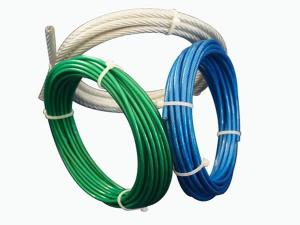 China Aircraft Vinyl Coated Steel Cable , 7x7 Galvanized Steel Wire Rope For Fall Protection on sale