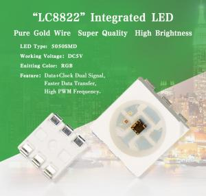 China DC5V Digital RGB Chip for Program Control LED Lighting Products LC8822 Smart LED on sale