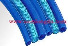 China High pressure PU braid air hose , PU Tube for compressed air system, W.P. Max 15bar, blue colour on sale