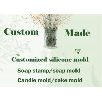 Custom Made Silicone Soap Mould DIY Soap Stamp , Candle Mold Fondant Cake Molds