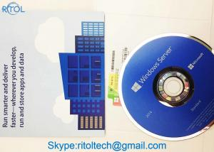 China 32 Bit Microsoft Windows Server 2016 Versions English Retail Box Package on sale