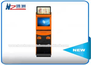 China Self Service Bill Payment Ticket Vending Kiosk With Card Dispenser Dual Screen on sale